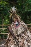 Danse faite sur commande de ROM, tribu de Fanla, Ambrym du nord, Vanuatu photo libre de droits