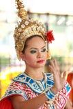 Danse folklorique, Bangkok, Thaïlande Photo stock