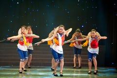 Danse folklorique : danse de faucille Photographie stock