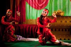 Danse folklorique de Kachin Images stock
