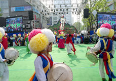 Danse folklorique de la Corée Photos stock