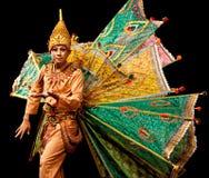Danse folklorique de Myanmar Images libres de droits