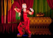 Danse folklorique de Myanmar Image libre de droits