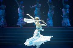 Danse folklorique four-chinoise de Fée-porcelaine de chance Photo stock