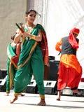 Danse folklorique indienne Photographie stock