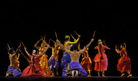 Danse folklorique indienne Photo stock