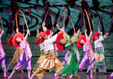 Danse folklorique : la femme rurale Photo libre de droits