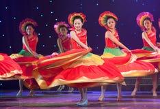 Danse folklorique : mélodie colorée Photo stock