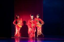 Danse folklorique : opéra de jeune mariée Image stock