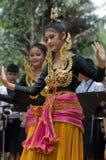 Danse folklorique thaïe Image libre de droits