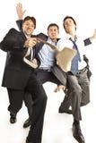 Danse folle d'hommes d'affaires Photographie stock libre de droits
