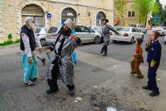 Danse Hasidic de juifs de Breslov Photos stock