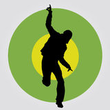 Danse heureuse d'homme, illustration de vecteur illustration stock
