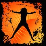 Danse heureuse de femme illustration libre de droits