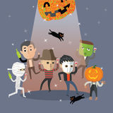 Danse heureuse de Halloween Photo libre de droits