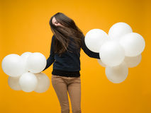 Danse heureuse de vente Photo stock