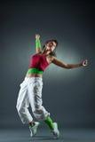 Danse hip-hop d'adolescente Images stock