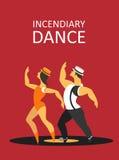 Danse incendiaire Images stock