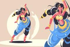 Danse indienne de filles Image stock