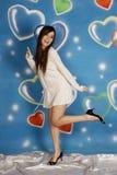 Danse intelligente de mode de fille photos stock