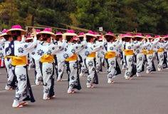 Danse Kyoto d'Awa-odori Image libre de droits