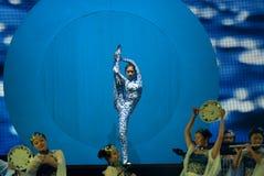 Danse : la porcelaine bleue et blanche Images stock