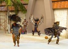 Danse maya traditionnelle, Mexique, des Caraïbes Photographie stock libre de droits