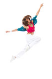 Danse mince de danseuse de femme de type de hip-hop Images stock