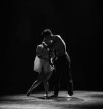 Danse moderne de Hue-prise d'amour-Le noir et blanc dessus Photographie stock libre de droits