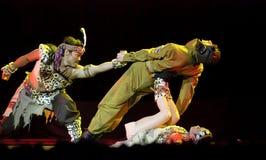 Danse moderne de trios Image libre de droits