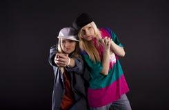 Danse moderne. Hip-hop. Photo libre de droits