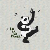 Danse Pandabear Photos libres de droits