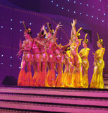 Danse par les acteurs sourds chinois Image stock