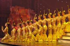 Danse par les acteurs sourds chinois Photos libres de droits