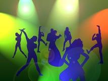 Danse pendant l'année neuve Photo stock