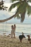 Danse pluse âgé heureuse de couples Photographie stock libre de droits