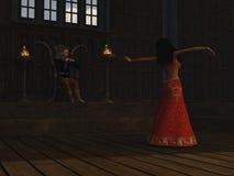 Danse pour le roi Photo stock