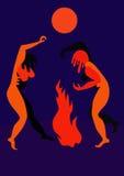Danse rituelle par l'incendie Photos libres de droits