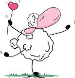 Danse romantique de moutons Photo stock