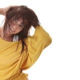 Danse sexy de femme d'isolement photo libre de droits