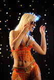 Danse sexy de fille Image stock
