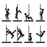 Danse sexy de Pôle illustration de vecteur