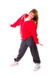 Danse sportive mince hip-hop de fille Photo stock