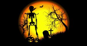 Danse squelettique de Halloween illustration libre de droits