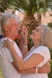 Danse supérieure de couples des vacances Photographie stock libre de droits