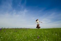 Danse sur la nature Images libres de droits