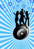 Danse sur un haut-parleur photos libres de droits