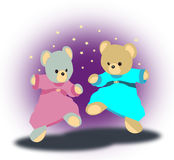 Danse Teddy Bears Photographie stock