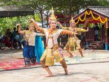 Danse thaïe Images libres de droits