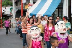 Danse thaïlandaise de poupée Photo stock